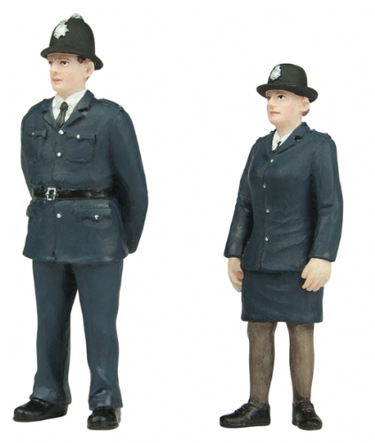 47-407 Scenecraft Policeman and Policewoman (pack of 2 figures)
